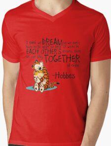 Hobbes Dream Quotes Mens V-Neck T-Shirt