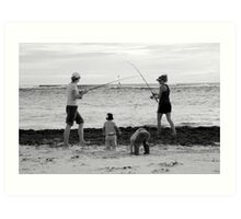 peoplescapes #339, duelling rods Art Print