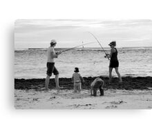 peoplescapes #339, duelling rods Canvas Print