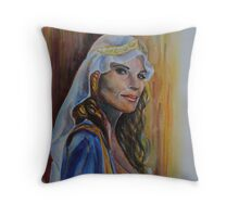 Erica Durance, featured in the Group and Virtual museum Throw Pillow