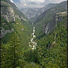 Merced Valley From Cascade by ten2eight