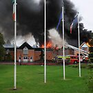 Hotel Fire, Portumna, Galway, Ireland by JoeTravers