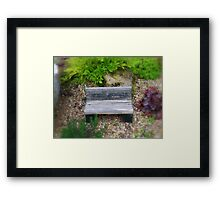 A Tiny Bench  Framed Print