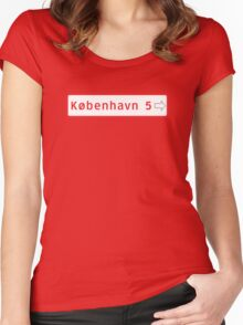 Roadmarker, Copenhagen, Denmark Women's Fitted Scoop T-Shirt