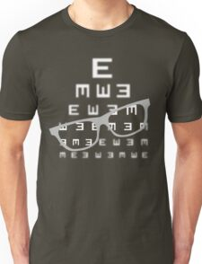 Vision screening with glasses Unisex T-Shirt