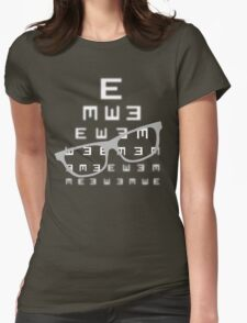 Vision screening with glasses Womens Fitted T-Shirt