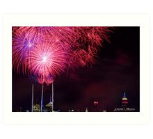 Untitled, ID4 Over the City Hudson Art Print