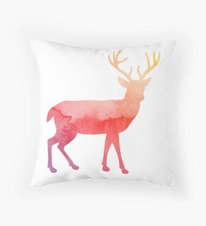 Stag antelope Throw Pillow