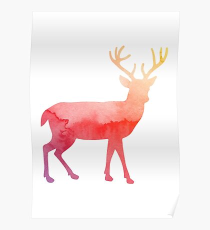 Stag antelope Poster