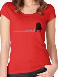 R2D2 robot Women's Fitted Scoop T-Shirt