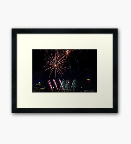 Untitled, ID4 Over the City Hudson Framed Print