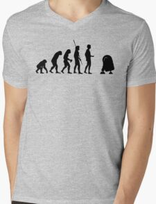 Evolution robot R2D2 Mens V-Neck T-Shirt
