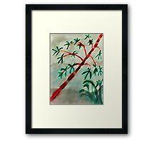 Bambo at sunset, watercolor Framed Print