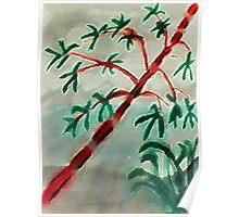 Bambo at sunset, watercolor Poster
