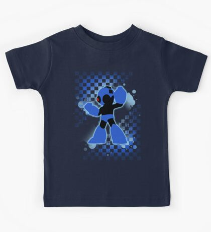 Super Smash Bros. Mega Man Silhouette Kids Tee