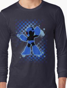 Super Smash Bros. Mega Man Silhouette Long Sleeve T-Shirt