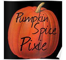 Pumpkin Spice Pixie Poster