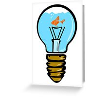 Bulbs aquarium with fish Greeting Card