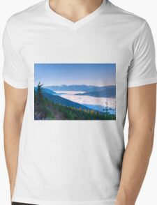 Summit view Mt Begbie  Revelstoke BC Mens V-Neck T-Shirt