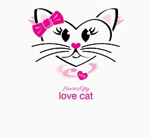 HeartKitty Love-Cat Womens Fitted T-Shirt