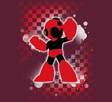 Super Smash Bros. Red Mega Man Silhouette T-Shirt
