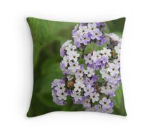 Purple & white bunch Throw Pillow
