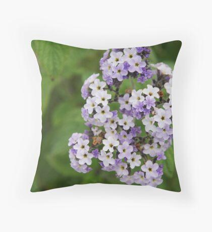 Purple & white bunch Throw Pillow