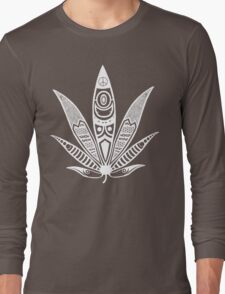 white psychedelic ganja  Long Sleeve T-Shirt
