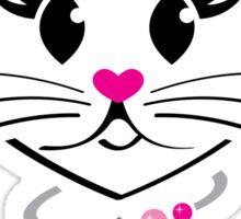 HeartKitty Princess Cat Sticker