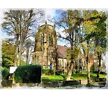 Beautiful Britain - Chapeltown Community Church (former United Reform) Leeds Photographic Print