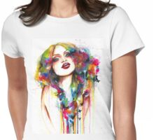 Inside waterfall Womens Fitted T-Shirt