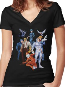 Silverhawks Women's Fitted V-Neck T-Shirt