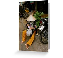 Streets of Ho Chi Minh Greeting Card