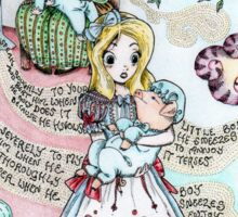 Alice & The Pig Baby Sticker