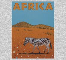 Landscape with Zebra Kids Tee