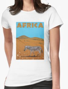 Landscape with Zebra Womens Fitted T-Shirt