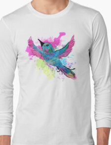 Watercolour Bird Long Sleeve T-Shirt