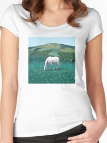 The White Horse of Alfriston Women's Fitted Scoop T-Shirt