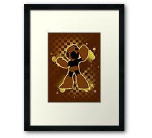 Super Smash Bros. Brown/Yellow Mega Man Silhouette Framed Print