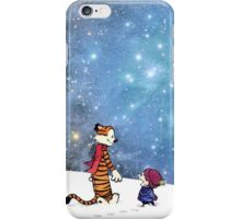 Calvin and Hobbes WInter iPhone Case/Skin