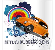 Retro Dubbers Rainbow Bug Poster