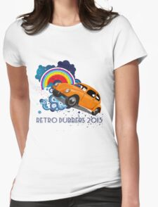 Retro Dubbers Rainbow Bug Womens Fitted T-Shirt