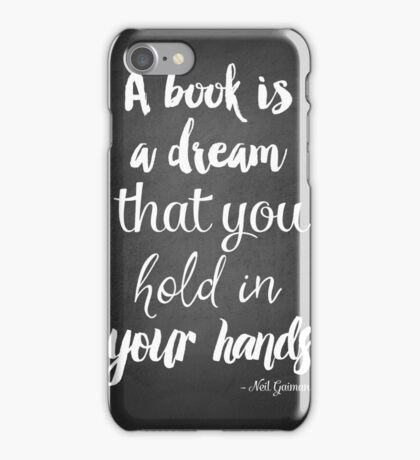 Neil Gaiman quote, Literary Quote, black and white Print, Quote print, iPhone Case/Skin