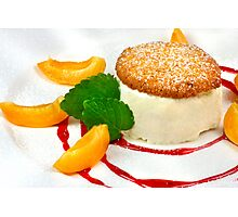 Honey Semifreddo With Almond Biscotti Photographic Print
