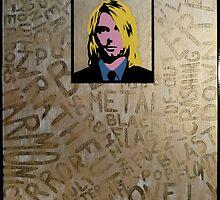 Gold Kurt Cobain by mhague91