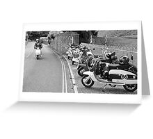 lambretta ride by Greeting Card