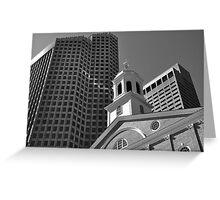 City of Boston Series,,,,,The Old and The New  Greeting Card