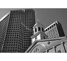 City of Boston Series,,,,,The Old and The New  Photographic Print