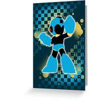 Super Smash Bros. Cyan/Light Blue Mega Man Silhouette Greeting Card