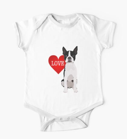 I love Boston Terriers One Piece - Short Sleeve